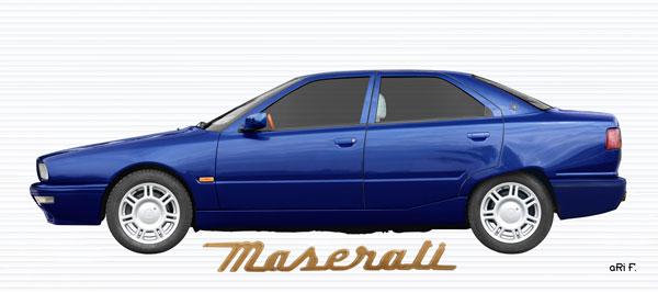 Maserati Quattroporte IV Poster in blue
