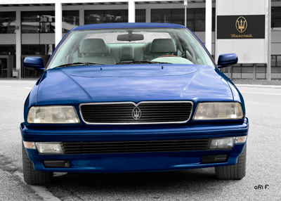 Maserati Quattroporte IV Poster in original blue