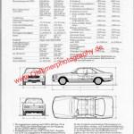 Mercedes-Benz C 126 Prospekt technische Daten