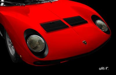 Lamborghini Miura Poster in original red