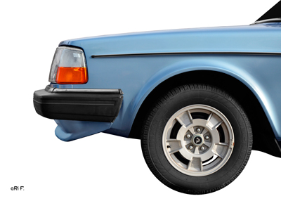 Volvo 244 GL Frontdetail Poster in light blue