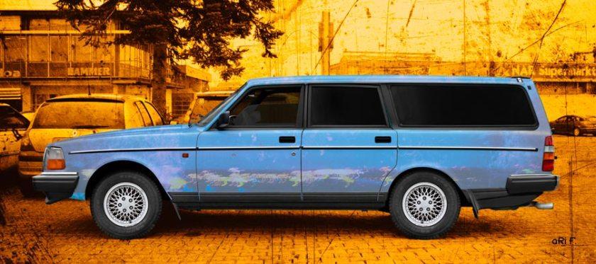 Volvo 245 Kombi Art Car Poster