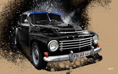 Volvo PV 444 Poster in Originalfarbe