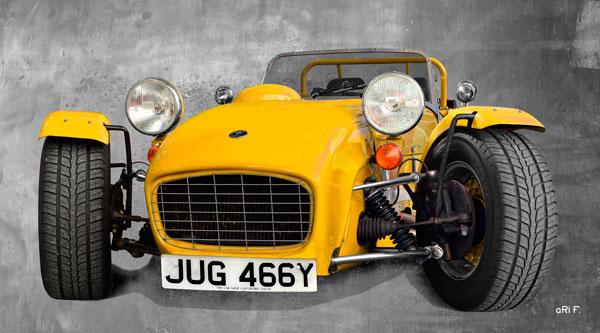 Caterham Super Seven Sprint Poster in yellow