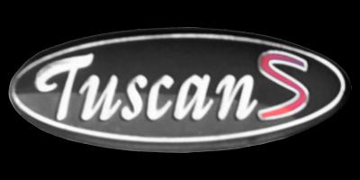 Logo TVR Tuscan S am Heck angebracht