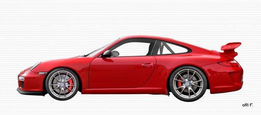 Porsche 911 GT3 Typ 997 Poster in original color