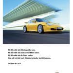 Porsche GT3 Advertising Reklame Werbung