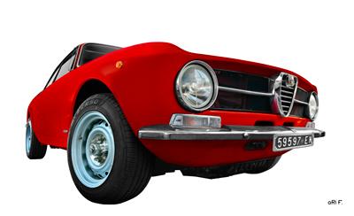 Alfa Romeo GT 1300 Junior Poster in Originalfarbe