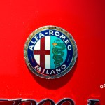 Alfa Romeo GT 1300 Junior mit Logo auf Heckklappe