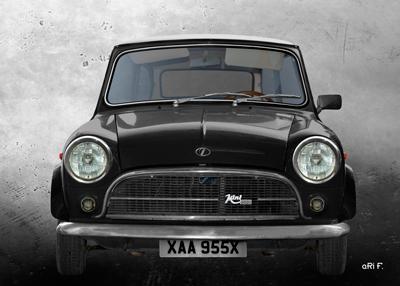 Innocenti Mini Minor 850 Poster in black