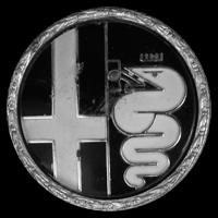 Logo Alfa Romeo auf Felge 1300 Junior