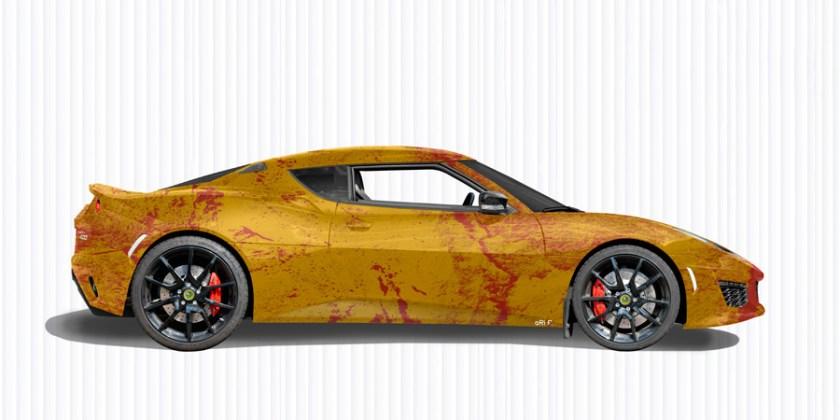 Lotus Evora 400 Art Car Poster by aRi F.
