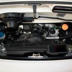 Porsche 911 GT3 RS Motor mit 3600 cm³ von denen wie üblich beim 911er man nicht viel sieht