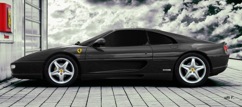 Ferrari F355 GTS F1 Poster in black