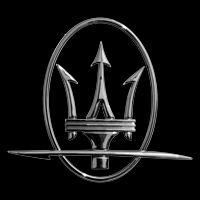 Logo Maserati auf GranSport