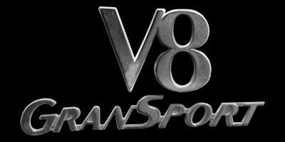 Logo Maserati GranSport V8
