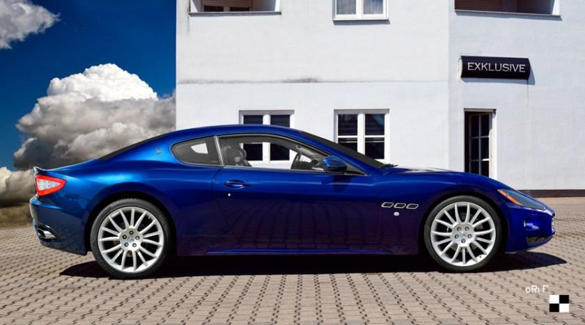 Maserati GranTurismo Poster in blue