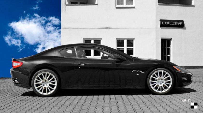 Maserati GranTurismo Poster in black