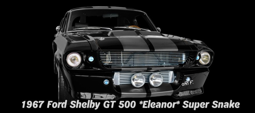 1967 Ford Shelby GT 500 Eleanor Super Snake Poster