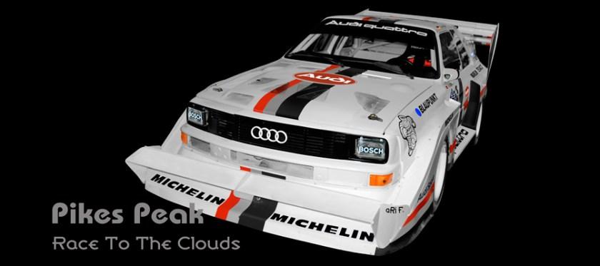 Audi Sport quattro S1 E2 Pikes Peak mit Walter Röhrl Poster by aRi F.