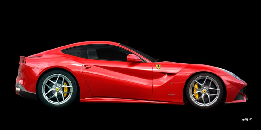 Ferrari F12 Berlinetta Poster in Rosso Fuoco