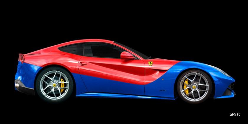 Ferrar F12 Berlinetta Poster in Duotone