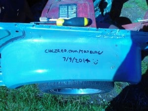 TR7 Front wing signature