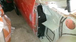 TR7 wing filler panel