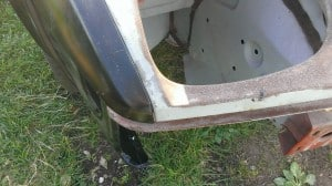 TR7 wing to front panel alignment