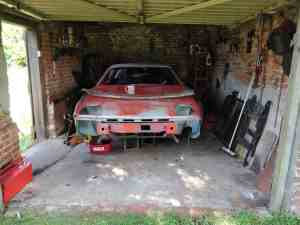 TR7 in garage after cleaning