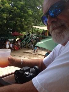 Bob at Skinny Leg's in Coral Bay