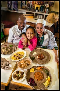 Owner / Manager, Befekadu Mosa, daughter, Hawwi Mosa and Chef Hanan Mosa.