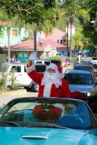 Caribbean Connection- Santa in T-Bird