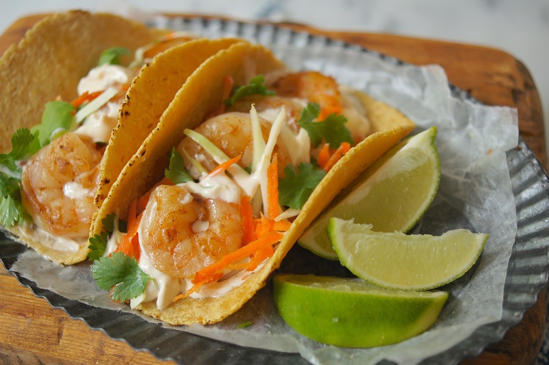 Grilled Shrimp Tacos with Cabbage Slaw  Oldways