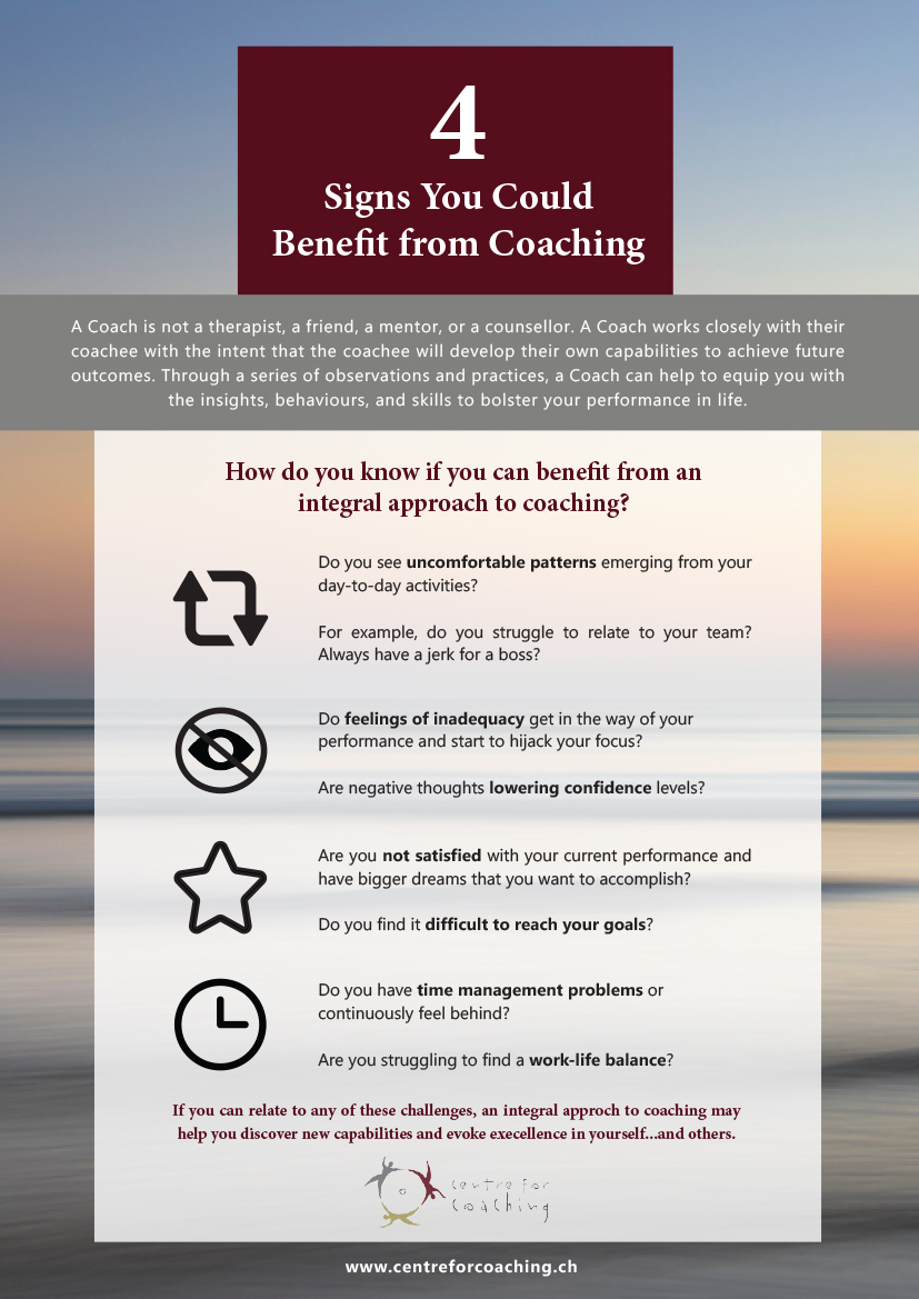4 Signs You Could Benefit from Coaching Infographic