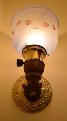 Bright Brass Sconce front