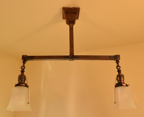 Craftsman style chandelier, 22 inch, unlit