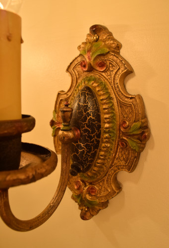 Palmetto Sconce, 1, back plate view