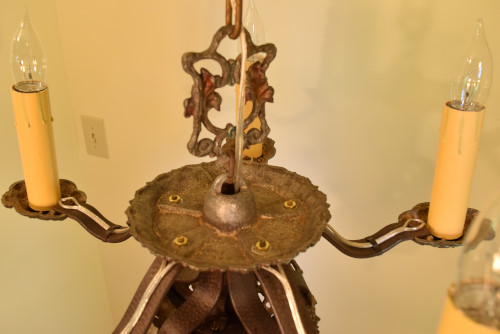 Riddle chandelier, looking down
