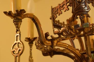 Brass Leaves Chandelier