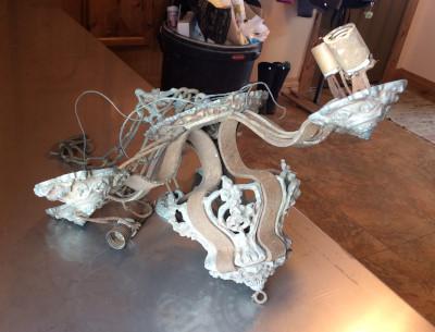 The Riddle Chandelier, Pre-Restoration