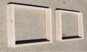 Start by assembling 2 rectangle frames from scrap wood or 2 x 4's.
