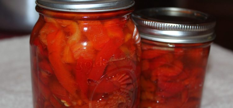 Marinated Roasted Red Pepper Recipe – And How To Preserve Them!