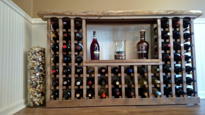 Wine Rack From Recycled Pallets and Barn Wood