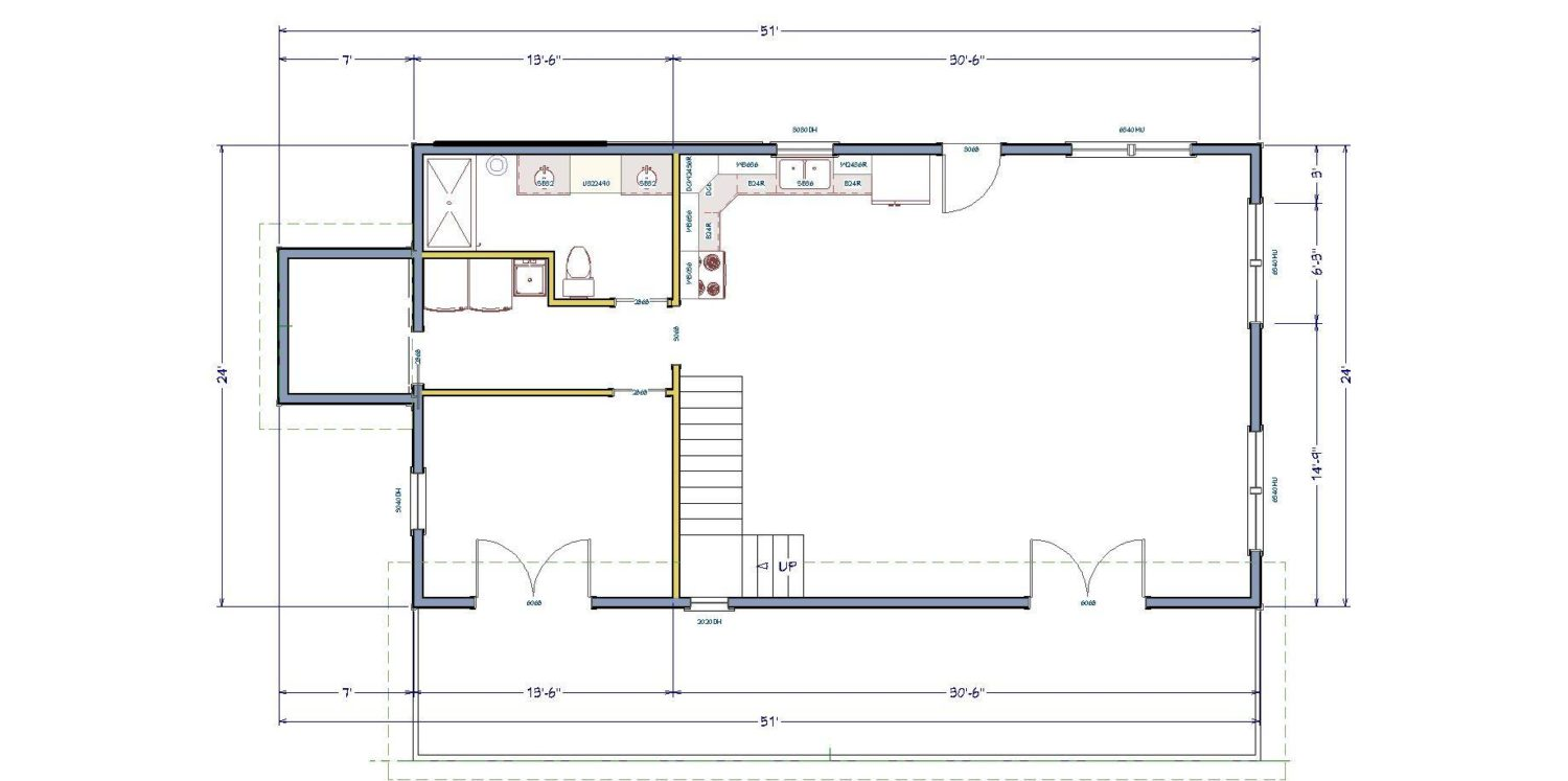 The simple house floor plan making the most of a small for Easy build home plans