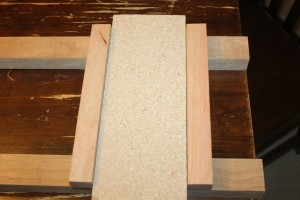 """You can make a 3.5"""" """"cheat"""" board to help keep the rungs spaced perfectly"""