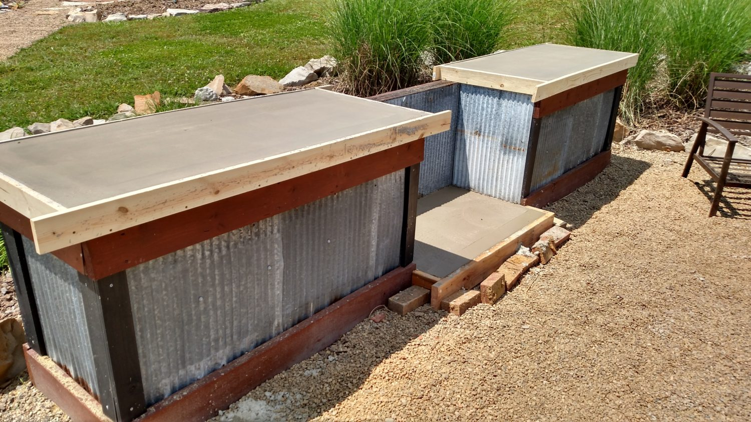 inexpensive kitchen countertops options new cabinets creating an outdoor with concrete ...