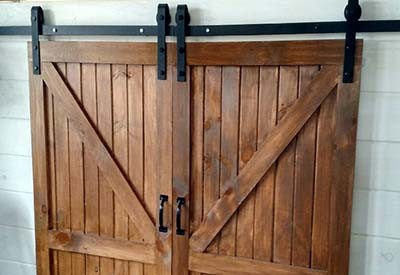 A Few Years Back, We Created Our Exterior Barn Doors From Reclaimed Lumber  For Our Barn, So We Decided To Make This One Of Our New DIY Projects And  Create ...