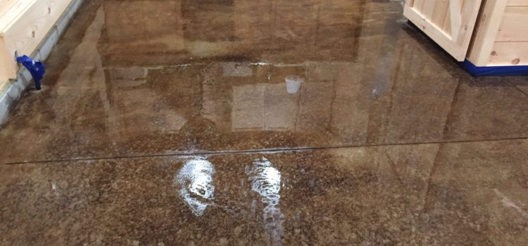 Acid Staining Our Concrete Floors – An Expensive Look At Little Cost!