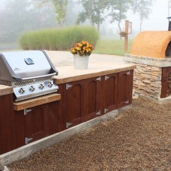 How To Make An Outdoor Kitchen Double Sink Homemade Concrete Countertops For Kitchens